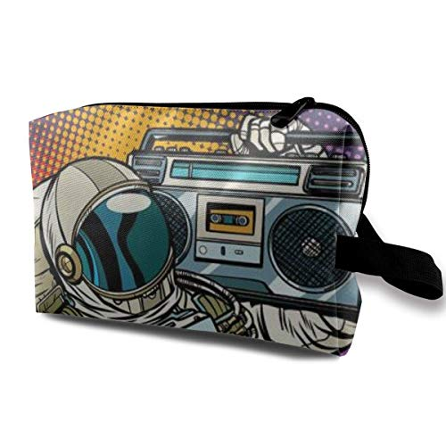 Astronaut and Boombox Make-Up Bag / Cosmetic Pouch