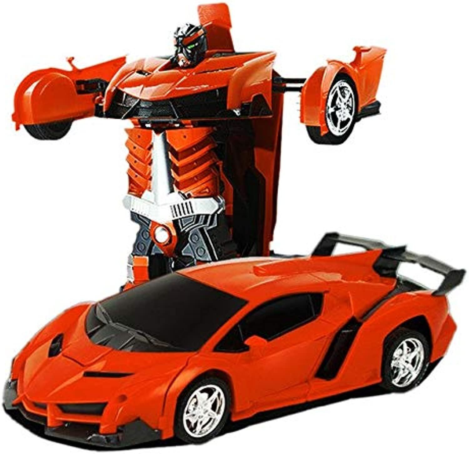 Generic Rc Car Remote Control Cars 2In1 Transformation Robots Toy Deformation Toys RC Sports Car Vehicle Model orange Car