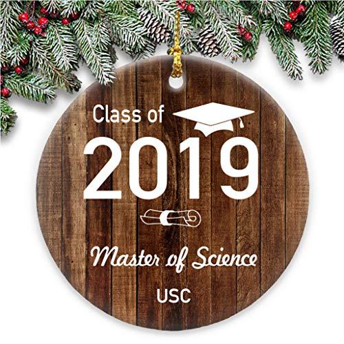 Yor242len Adorno de graduación Personalizable con Nombre de año de graduación, para el Colegio, Regalo de graduación universitaria