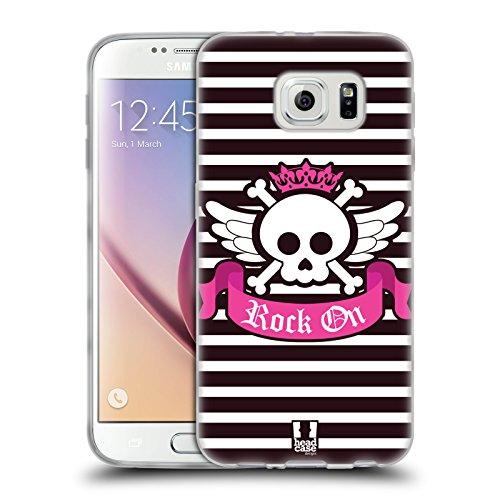 Head Case Designs Rock On Dolce E Piccante Cover in Morbido Gel e Sfondo di Design Abbinato Compatibile con Samsung Galaxy S6