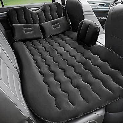 FBSPORT Upgrade Car Travel Inflatable Mattress Air Bed Cushion Camping Universal SUV Extended Air Couch with Two Air Pillows