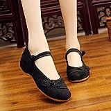 LLSPHYDY Zapatos tradicionales ocasionales ocasionales de las señoras del...
