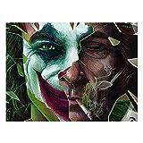 ganlanshu Pintura sin Marco Arte de la Pared Pintura de la Lona Payaso Cartel de la película Arte Moderno Decoración del hogar Sala de Estar CartelAY5285 50X75cm