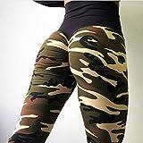 N-B Pantalones de Yoga Pantalones de Mujer Pantalones Deportivos Ajustados con Estampado de Camuflaje de Cintura Alta Leggings Pantalones de Tubo Pantalones de Entrenamiento Pantalones de Baile