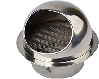 Bewox Air Vent Ventilation Grille Cover Stainless Steel Ducting External Extractor Wall Vent with Fly Screen Mesh (8 Inch)