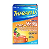 Theraflu Daytime Severe Cold & Cough Packets Berry Infused with Menthol & Green Tea Flavors - 6 ct, Pack of 2