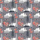 11,99€/m 100x160cm Fuchs 100% Baumwolle Baumwollstoff