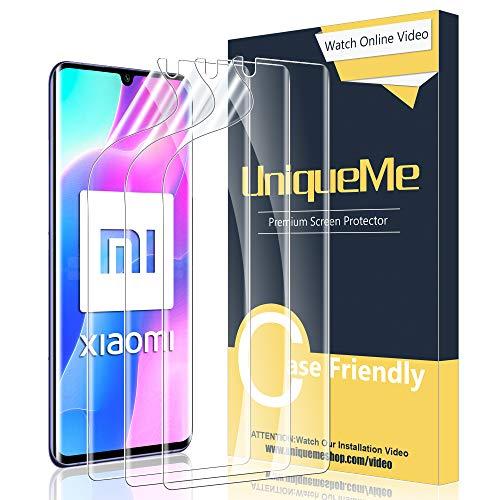 UniqueMe [3 Pack] Protector de Pantalla Compatible con Xiaomi Mi Note 10 / Mi Note 10 Pro/Mi Note 10 Lite TPU Protector, [Sin Burbujas] HD Film [Flexible]