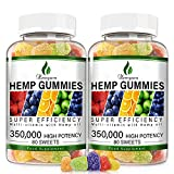 2Pack Hemp Gummies 350,000MG Stress & Anxiety Relief - 160ct - Sleep Aid,Calm & Mood Support Premium Natural Hemp Extract Rich in Omega 3-6-9