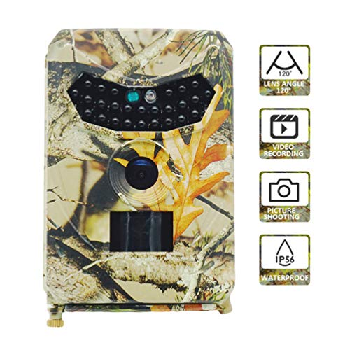 Xegood 12MP Wildkamera 1080P mit 120 °Überwachungswinkel Bewegungserkennung in,940 nm IR-LEDs 15m Nachtsicht,Auslösegeschwindigkeit 1 s Camouflage 1#8G