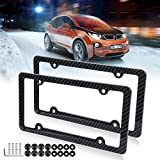x5 license plate frame - License Plate Frame Car Bottom License Plate Frames 2Pcs 4 Holes Black Licenses Plate Covers Replacement fit for US Vehicles