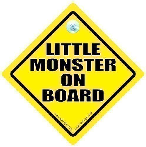 Little Monster sur Board, panneau bébé à bord, panneau Little Monster, Bumper Sticker Panneau Style, conduite Funny Signs Panneau Little Monsters,