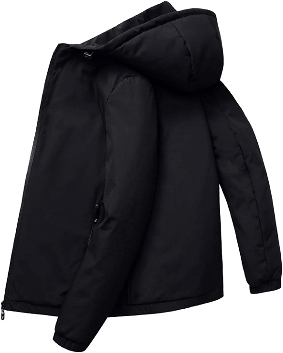 CHARTOU Men's Hooded Diamond-Quilted Zip-Up Down Alternative Jacket Outwear