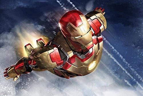 Adoff Puzzle de 1000 piezas individuales de Iron Man In Flight Impossible Puzzle de habilidad para adultos y niños, rompecabezas imposibles de superar