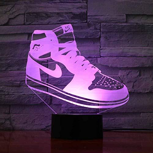3D LED sneaker vorm nachtlicht illusie lampen 7 kleuren verandering tafellamp decoratieve lamp sfeerlicht decoratie voor kinderen Kerstmis verjaardagscadeau