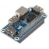 Raspberry Pi 4拡張ボードイーサネット USB HUB HAT 5V RJ45 10 100M イーサネットポート1つとRaspberry Pi 4 3B+ 3B Zero W WHと互換性のある3つのUSBポート