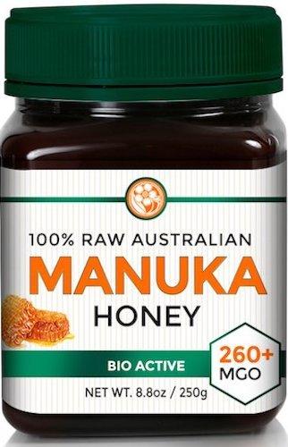 Raw Manuka Honey MGO 260+ (NPA 10+) 8.8oz (250g) Medicinal Strength - High Certified Rating - BPA Free Jar - Cold Extraction - Independently Verified