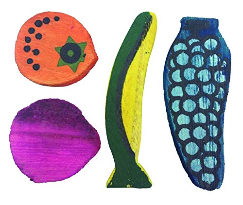 Croci Grignoteuse en Bois Fruits pour Petits Animaux 8 X 8 X 1 cm