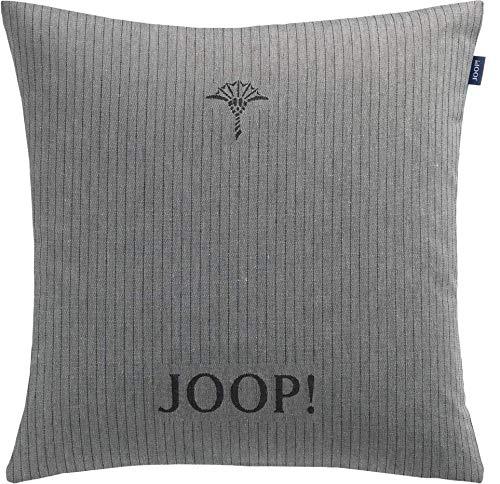 Joop! Living Zierkissenhülle ohne Füllung Pinstripe dunkelgrau Dekokissen Bezug