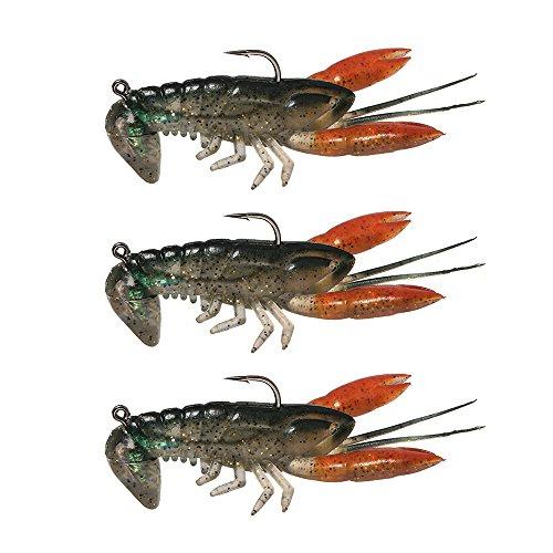 Lixada Soft Fishing Lure Crawfish Bait Shrimp Lobster Claw Artificial Lure Swimbait 8cm/14g 3pcs