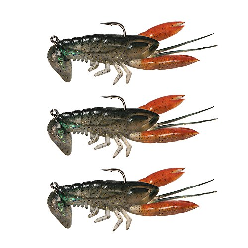 Lixada Soft Fishing Lure Crawfish Bait Shrimp Lobster Claw Artificial Lure Swimbait 8cm/14g 3pcs