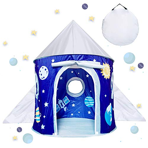 Kid Play Tent Toy for 3-10 Year Old Boy Girl, Birthday Gift for Toddler Kids Age 4 5 6 7 8 Space Tent for Boys Babies Present Toys Teepee Castle