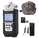 Zoom H4n PRO Digital Voice Recorder with Movo ESSENTIALS Bundle - Multitrack Recorder with'Deadcat' Windscreen, Remote Control, and 32GB SDHC Memory Card