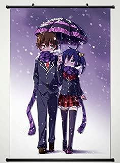 Wall Scroll Poster Fabric Painting For Anime Love Chunibyo Other Delusions Togashi Yuuta & Takanashi Rikka 055 L