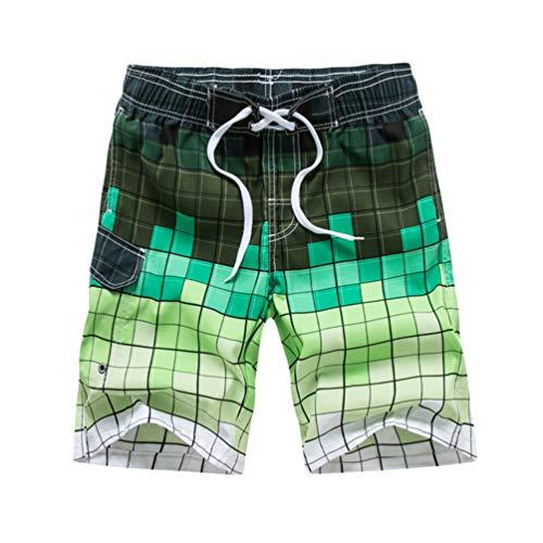 Baijiaye Hombre Pantalón Corto de Verano Bañador Shorts Pantalones Cortos Playa Secado Rápido con Forro de Mallas Hombre Shorts Rojo