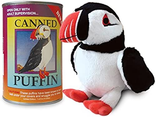 Canned Critters Stuffed Animal  Puffin 6 by Canned Critters