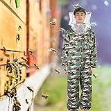 【𝐕𝐞𝐧𝐭𝐚 𝐑𝐞𝐠𝐚𝐥𝐨 𝐏𝐫𝐢𝐦𝐚𝒗𝐞𝐫𝐚】 Traje anti-abejas, sombrero redondo, suave y práctico traje de apicultura, jardín al aire libre para apicultores, apicultura(XXL)