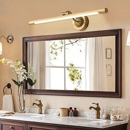 ZXJUAN hoofdverlichting American Alle Copper voor de LED-lamp retro spiegel badmeubel spiegelkast lamp-licht retro badkamer toilet wand 56 cm * 10 cm
