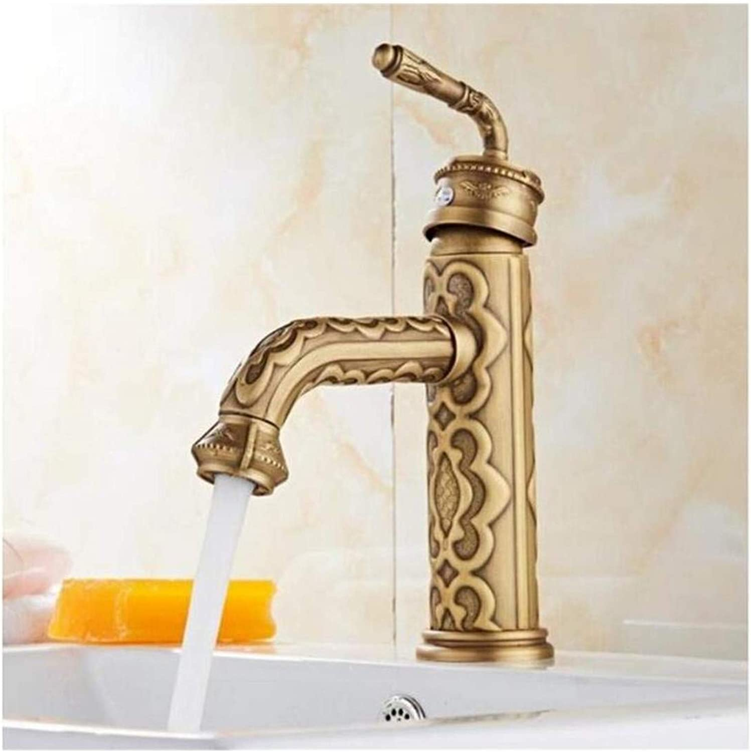 High Quality Vintage Stainless Steel Bathroom Sink Faucet Luxury Basin Mixer Sink Faucet Tap Brass Water Tap