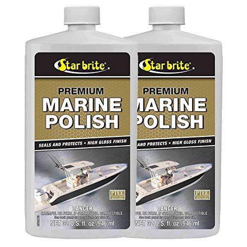 2 Pack Premium Marine Polish w/PTEF Fiberglass Metal Paint StarBrite 85732