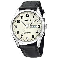 Mens Lorus Lumibrite Dial Leather Strap Watch RJ647AX9