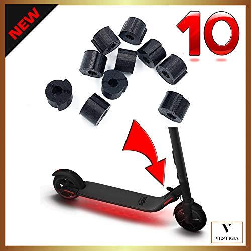 Vestigia® - Amortiguador de vibración Ninebot Segway ES1 ES2 ES3 ES4 de Goma - Accesorios para Sistema de Plegado de Patinete electrico, Accesorios Patinete, Scooter Gadgets (Rojo, 10 Piezas)