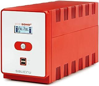 Salicru SPS 1200 Soho+ – Sistema de Alimentación Ininterrumpida (SAI/UPS) de 1200 VA Line-Interactive y con Doble Cargador...
