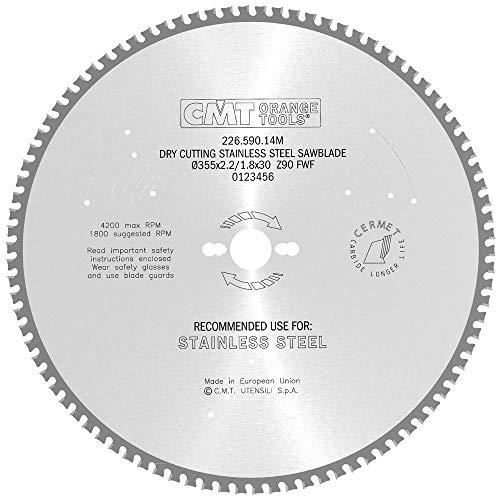 Cmt 226.590.14m cirkelzaag voor roestvrij staal hw 355x2,2/1,8x30 Z90 fwf