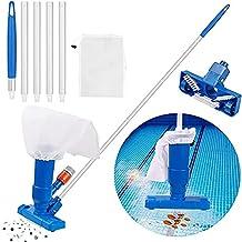 Xingang Aspirador portátil de la piscina con el cepillo mini portátil aspirador piscina accesorios de limpieza con 5 secciones poste
