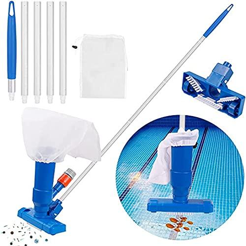 KPJSJ Aspiradora de Piscina Cepillo Mini aspiradora portátil Accesorios de Limpieza de Piscina con Poste