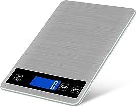 HJTLK Balance de Cuisson électronique en Acier Inoxydable, Balance de Cuisine Rechargeable, capteur Tactile, LCD rétro-écl...