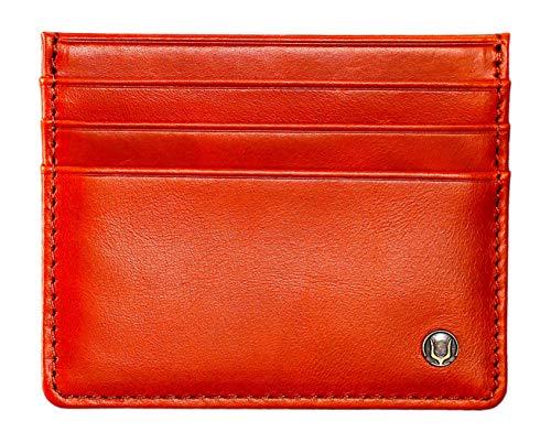 Cronus & Rhea® | Luxus Kartenhalter aus exklusivem Leder (Argos) | Kartenetui - Kreditkartenetui - Kartenhülle - Ausweishülle | Echtleder | Mit eleganter Geschenkbox | Herren - Damen (Cognac)