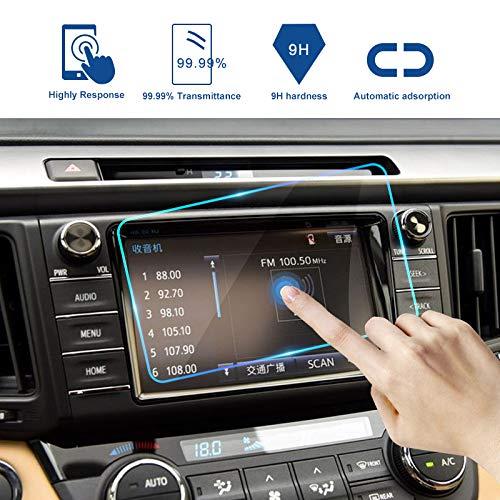 YXSMQC LCD Screen Protect Sticker Auto GPS Navigatie Scherm Gehard Glas Beschermende Film, Voor Dodge Ram 1500 2500 3500 2014-2018