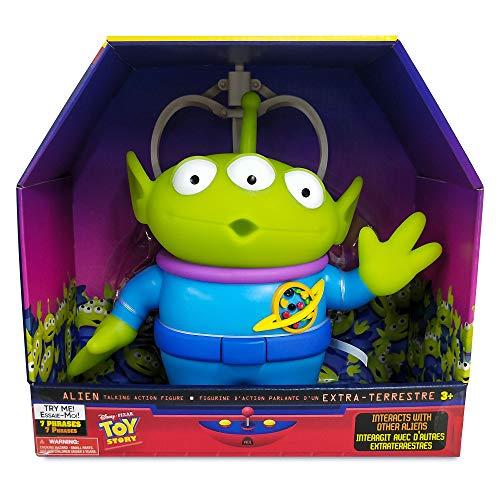 Disney Store: Alien, Figura de acción de Toy Story con Voz e interactiva, 25,5cm, 7Frases en inglés, Solo interactúa con Otras Figuras y Juguetes Alien, Partes articuladas, para Mayores de 3años