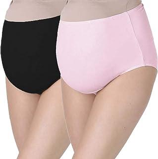 FEOYA 4 Pack Pregnant Women Briefs Maternity Knickers Cotton Low Waist Pregnancy Underwear