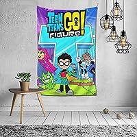 Teen Titans Go (5) タペストリーファブリック装飾用品アートプリント 壁掛け布 壁掛け 壁飾り インテリア 布ポスター パーティー リビング 窓 お部屋 和室 お店 雑貨 個性ギフト 新居祝 150*100cm