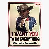 kineticards Fallout 4 Sanctuary Garvey Hills Preston Survivor Uncle Sam Soul   Home Decor Wall Art Print Poster