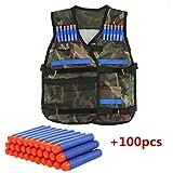 Buoyancy Niños para niños Elite Chaleco táctico con 100unidades Bala Azul para Pistola N-Strike Elite Series (Camouflage)