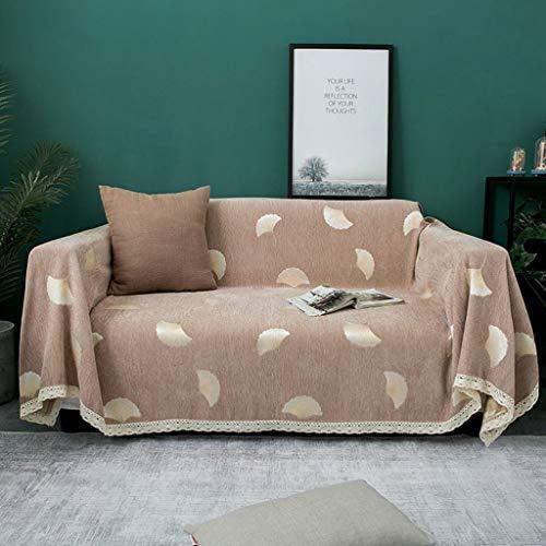 DONGLU Tissu Sofa, Four Seasons Universal Antidérapante Coussin Living Canapé Chambre, Dentelle Sofa, Simple Couverture Arrière Tissu Serviette, Housse (Color : B, Size : 180x180cm)