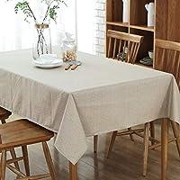 シンプルなコーヒーテーブルの綿と麻防水生地のテーブルクロス キッチン用品 (Color : Beige, Size : 130*220cm)